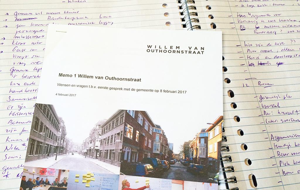 Verslag Bespreking Straatteam Willem Van Outhoornstraat Met Gemeente Op 8 Februari 2017