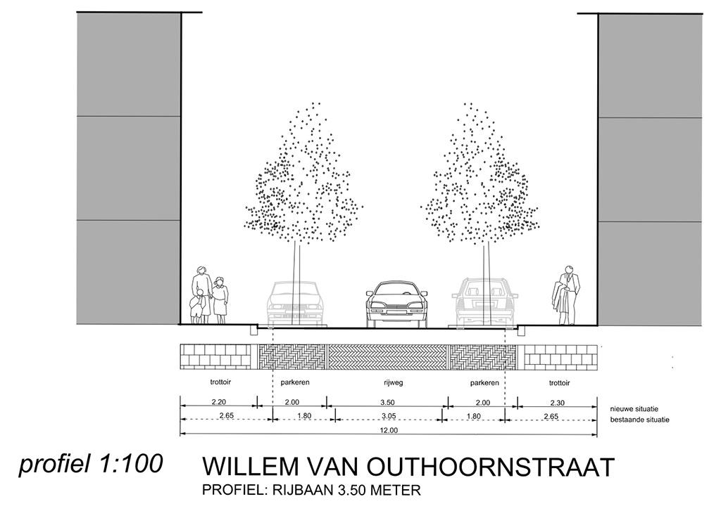 Profiel Willem Van Outhoornstraat Voorontwerp